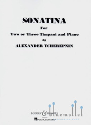 Tcherepnin , Alexander - Sonatina For Two or Three Timpani and Piano (スコア・パート譜セット)