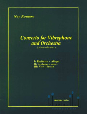 Rosauro , Ney - Concerto for Vibraphone and Orchestra ( Piano Reduction ) (スコア・パート譜セット)(特価品)