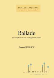 Sejourne , Emmanuel - Ballade pour Vibraphone (スコア・パート譜セット) (特価品)