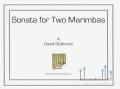 Skidmore , David - Sonata for Two Marimbas (スコア・パート譜セット)