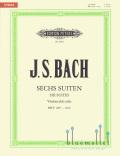 Bach , Johann Sebastian - Sechs Suiten fur Violoncello solo (Paul Rubardt版) (特価品)