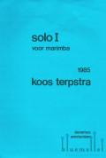 Terpstra , Koos - Solo I  voor Marimba (特価品)