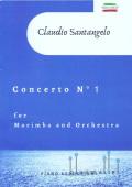 Santangelo , Claudio - Concerto No.1 for Marimba and Orchestra (ピアノ伴奏版/スコア・パート譜セット)