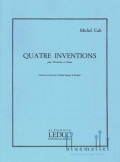 Cals , Michel - Quatre Inventions  pour Percussion et Piano (スコア・パート譜セット) (特価品)