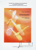 Lacour , Guy - Divertissement for Alto Saxophone and Percussion (スコアのみ)