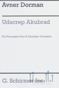Dorman , Avner -  Udacrep Akubrad for Percussion Duo & Chamber Orchestra (オーケストラ版打楽器パートスコア2冊のみ) (特価品)