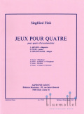 Fink , Siegfried - Jeux pour Quatre (スコア・パート譜セット) (特価品)