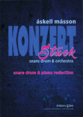 Masson , Askell - Konzertstuck for snare drum & orchestra (ピアノ伴奏版 / スコア・パート譜あり)
