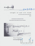 Cangelosi , Casey - Sleight of and Evil Hand for solo snare drum and bell metronome (特価品)