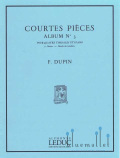 Dupin , Francois - Courtes Pieces Album No. 3 (スコア・パート譜セット)