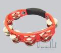 LP Tambourine Steel Jingle LP151 Red