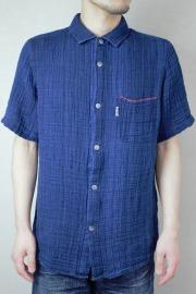 メンズシュロ台襟シャツ(半袖)