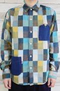 カラーパッチ台襟シャツ