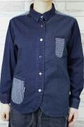 レディース裾ラウンドクレイジーシャツ