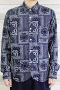 メンズ裾ラウンドシャツ バンダナ