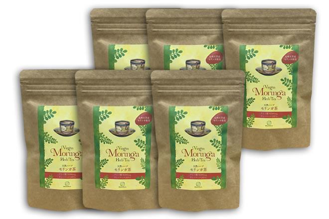 モリンガ茶ハーブティー/6袋セット/おなら解消/無農薬・無香料・無着色・保存料不使用