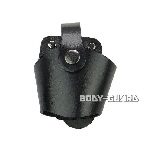 ユイル L-2 手錠ケース 合皮 オープンタイプ ブラック ホック式