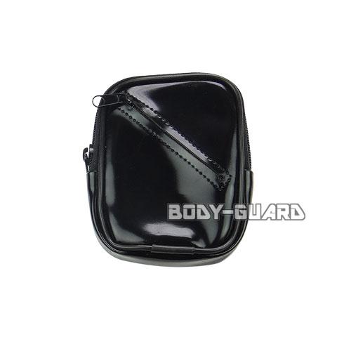 手錠ケース L-5 エナメル ブラック 手錠キー収納ポケット付き