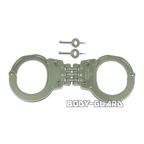 ユイル M-11-1K 手錠 ヒンジタイプ シリコンコーティング ダブルロック シルバー
