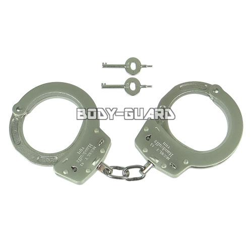 ユイル Y-01K スタンダード手錠(NIJ Pass) シリコンコーティング ダブルロック シルバー
