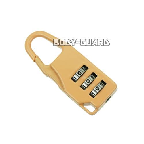 ダイヤルロック式 カラビナ錠 フロントロック タイプ2 オレンジ