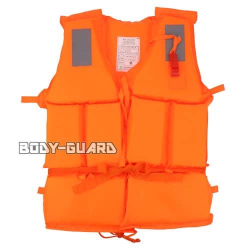 救命胴衣(ライフジャケット) オレンジ ホイッスル付き