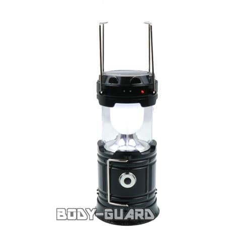ソーラー充電式 LEDランタン 2WAYタイプ ブラック