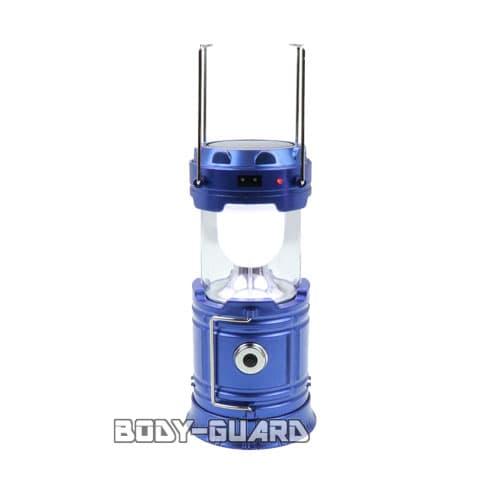 ソーラー充電式 LEDランタン 2WAYタイプ ブルー