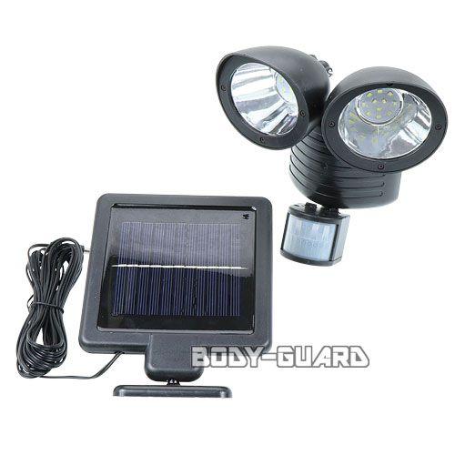 ソーラー発電式 LEDセンサーライト 2灯 150ルーメン