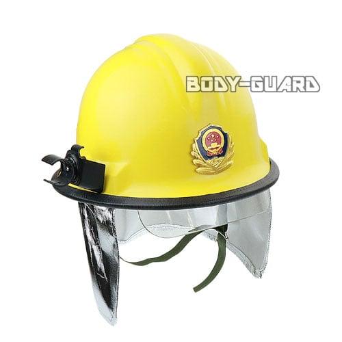 消防ヘルメット タイプ1 フェイスシールド付き イエロー