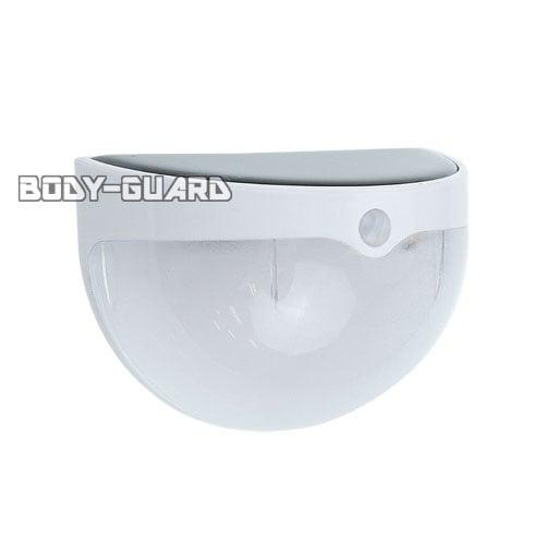 ソーラー充電式 LEDセンサーライト 明るさセンサー搭載 ホワイト