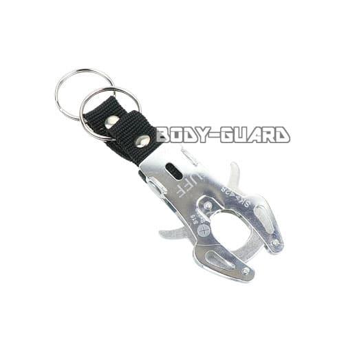 タフキーホルダー タイプ2 小 シルバー キーリング2個