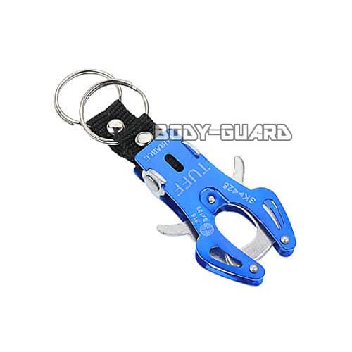 タフキーホルダー タイプ2 小 ブルー キーリング2個