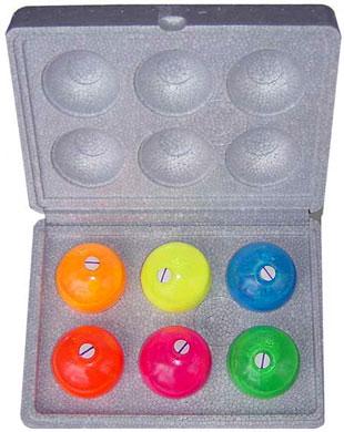 カラーボール 新型蛍光クラックボール6個入り