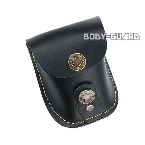 磁石付き スリングショット玉用 合皮ケース ブラック