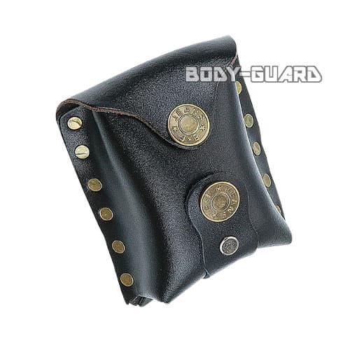 磁石付き スリングショット玉用 合皮ケース ワイルド ブラック