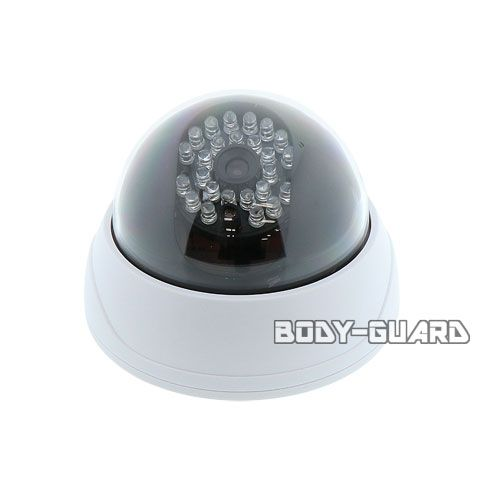 LEDが自動で点灯 リアルドーム型ダミーカメラ