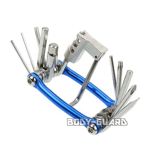 コンパクトツールキット 11機能付き ブルー