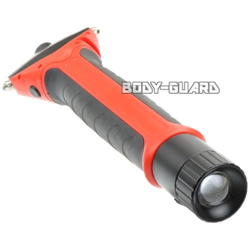 伸縮式 ガラス割り レスキューツール KLP-109 LEDライト搭載