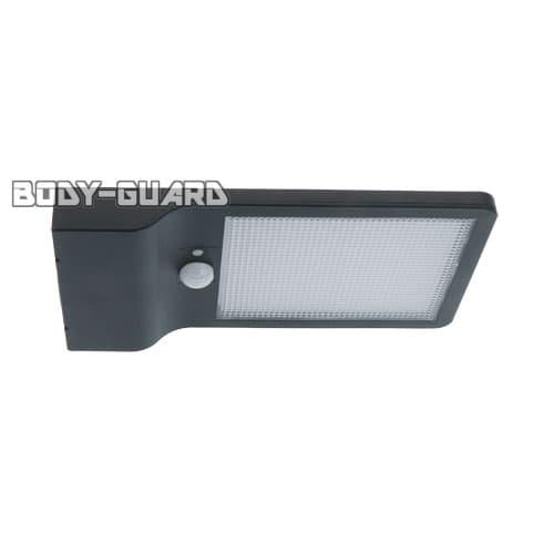 薄型明暗センサーライト10W ソーラー充電式 ブラック