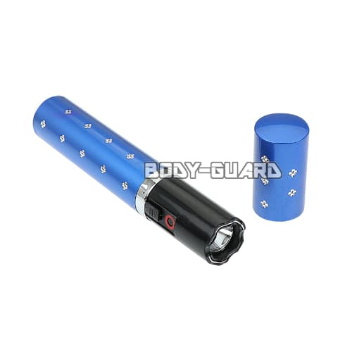 リップスティック型スタンガン スマート 充電式 ブルー