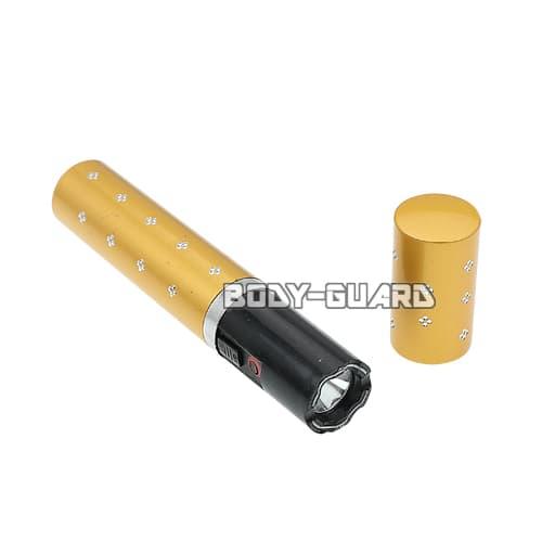 リップスティック型スタンガン スマート 充電式 イエロー