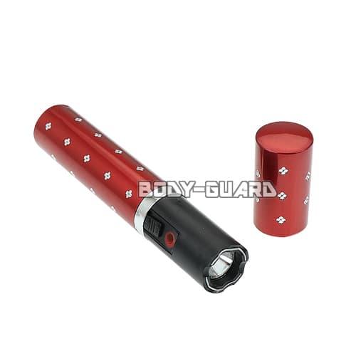 リップスティック型スタンガン スマート 充電式 レッド