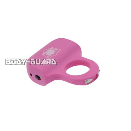 ワンフィンガータイプ スタンガン 充電式 ピンク