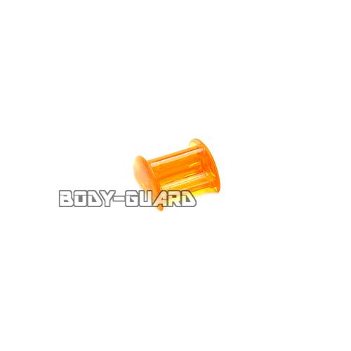 ファルコン カラーロッキングクリップ2個 (着せ替えゴム止め) オレンジ