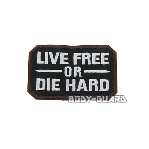 LIVE FREE OR DIE HARD ワッペン ブラック