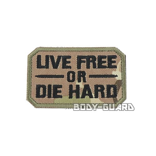 LIVE FREE OR DIE HARD ワッペン CP迷彩