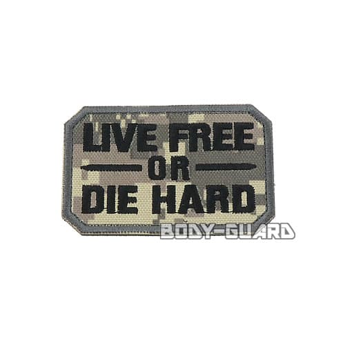 LIVE FREE OR DIE HARD ワッペン ACU迷彩