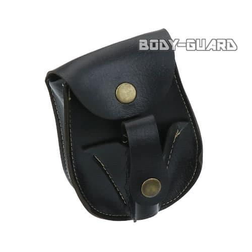 磁石付き スリングショット玉用 合皮ケース タイプ2 ブラック