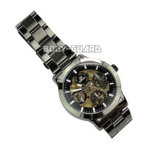 キワモノ SHENHUA(MCE) 自動巻き 黒金腕時計